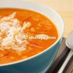 Jordanian Tomato Rice Soup Recipe