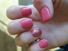 obsessed #glitter #pink #nails