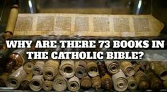 """(via Dee V) The holy Catholic Church has 73 books in its Bible. Protestants only have 66. Some Protestants think that it was the holy Catholic Church that """"added"""" to the Bible....."""