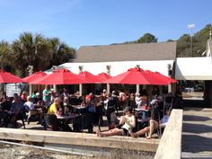Everyone was out enjoying the weather at the oceanfront Dunes House (now open for the season!) today at Palmetto Dunes in Hilton Head