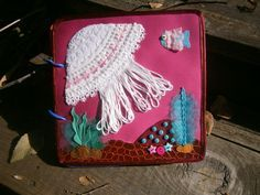 """Sensory felt & fabric quiet book """"Touch Me"""", page Jellyfish"""