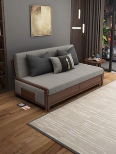 Home Design Living Room, Bedroom Bed Design, Bedroom Furniture Design, Bed Furniture, Living Room Decor, Sofa Cumbed Design, Sofa Bed For Small Spaces, Wooden Sofa Set Designs, Sofa Bed Wood