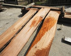gorgeous color and ribbon striping - Reclaimed Belizean Sinker Mahogany