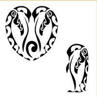TATTOO TRIBES - Dai forma ai tuoi sogni, Tatuaggi con significato - pinguino, imperatore, antartico, unione, devozione, continuità, cambiamento