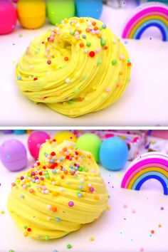 DIY Fluffy Slime Recipe_How To Make Homemade Cake Batter Slime Without Borax - Slime Ideas For Kids - Parties - Crafts_Easy Slime Recipe With Video Fluffy Slime Recipe, Diy Fluffy Slime, Easy Slime Recipe, Dinner Recipes For Kids, Dinners For Kids, Kids Meals, Galaxy Slime, Diy And Crafts Sewing, Easy Crafts