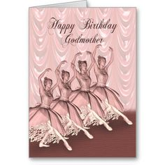 Shop Godmother, a ballerina birthday card created by Eggznbeenz. Cousin Birthday, Happy Birthday Daughter, Birthday Cards, Ballerina Birthday, Ballerina Dancing, Happy Birthday Godmother, Cool Pins, Daisy, Pink