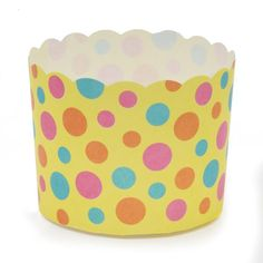 Welcome Home Brands-Festive Baking Cups-Yellow with Dots