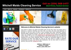 New Cleaning Services added to CMac.ws. Mitchell Maids Cleaning Service in Killeen, TX - http://cleaning-services.cmac.ws/mitchell-maids-cleaning-service/130123/