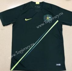 53f666c2f 2018 World Cup Australia Home Green Thailand Soccer Jersey AAA