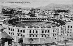 "Bilbao, bullring ""Vista-Alegre"", inaugurated in 1882. It destroyed by fire in 1961."