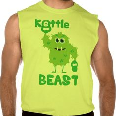 Kettle Beast (cute kettlebell monster) Sleeveless Shirts Tank Tops