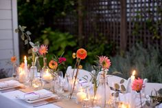 How To Make a Simple, Colorful Tablescape A Practical Wedding: Blog Ideas for the Modern Wedding, Plus Marriage