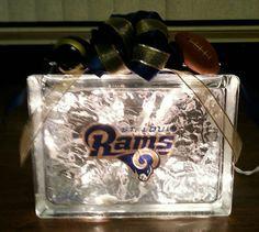 Check out this item in my Etsy shop https://www.etsy.com/listing/207217035/st-louis-rams-lighted-glass-block
