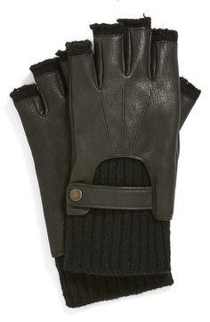John Varvatos Star USA Fingerless Driving Gloves available at #Nordstrom