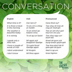 Everyday Conversation Irish Phrases
