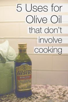Here are 5 great uses for olive oil that don't involve your kitchen! Well, maybe some of them can be done in the kitchen... but they don't have to be! :D