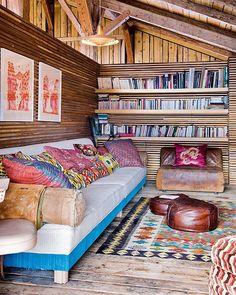 多国籍ボヘミアン×北欧モダン家具』がオシャレ、旧農家のロッジ風 ... modern-chalet-6