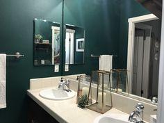 #greenbathroom #guestbath #kidsbath #cactuschic #cactus #bathroomideas #bathroomdesign #diy #kellymoore #target #amazon #homegoods #originaldesign