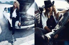 cowboy editorial, fast cars editorial