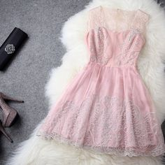 D104 Embroidery Sleeveless Short Dress US$148 | DRESSES UP