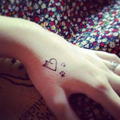 kitty-heart tattoo