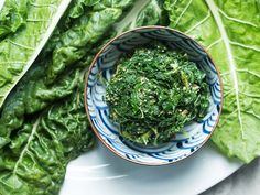 JAPANESE-STYLE SWISS CHARD AND SESAME SALAD