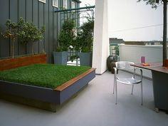 Literally a bed of grass. Fun!