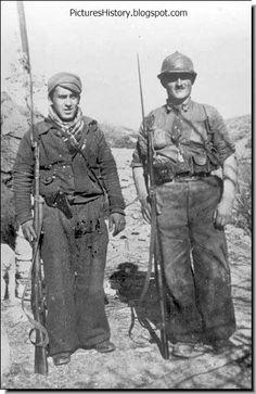 Spanish Civil War. The Republican soldiers.