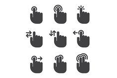 Touch icons by Kurokstas on Creative Market