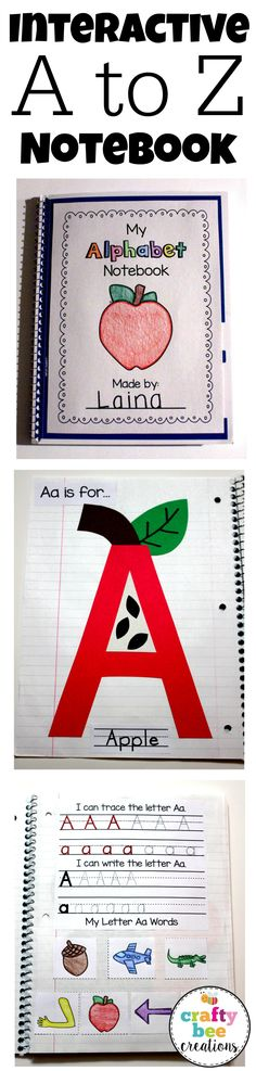 My Interactive Alphabet Notebook makes learning about the alphabet fun by incorporating a craft with letter writing and words.  When completed students will have crafts from letters A to Z and have a great example of their work to share and save.