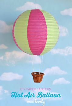 Paper lantern hot air balloons make beautiful party or home decorations and are so easy to make! Learn how to make your own paper lantern hot air balloons!