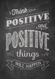 Think positive and positive… Inspire U Poster (CTP6700) #classroom #decor #AILtyler