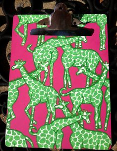 Lilly Pulitzer inspired custom painted clipboards by KatiedidDecor, $30.00