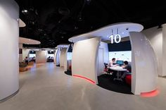 The future of banking? Pods? Not a massive fan of this cold space at DBS