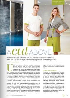 A cut above: how uniforms, towels and robes help you build your brand and edge ahead of the competion