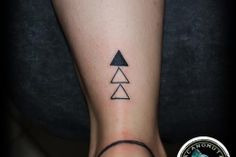 Tattoo Triangle is a good choice for any place on your body. A small tattoo created by tattoo artist Manos