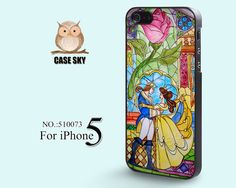 iPhone 5 Case, Beauty and Beast, Rose Glass, Disney iPhone Case, Plastic Phone Cases, Case for iPhone-510073 on Etsy, $10.42 CAD