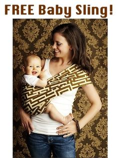 FREE Baby Sling!  {just pay s/h} ~ I love all the patterns, and these make really fun baby shower gifts, too! #baby #slings