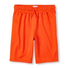 Boys Boys Knit Mesh Shorts - Orange - The Children's Place