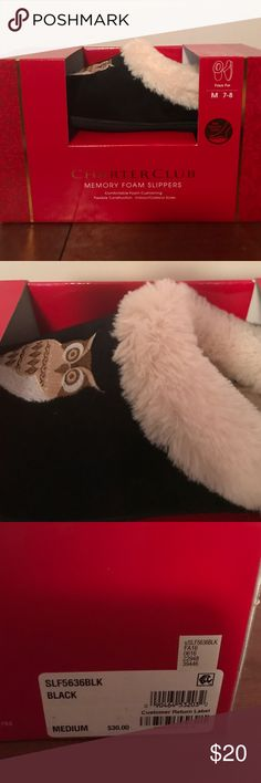 Charter Club Owl Slippers Brand new. Very comfy memory foam slippers. Size med (7-8) Macy's Shoes Slippers