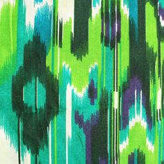 ikat fabric   ikat print cotton fabric blue green abstract 1 yard by pallavik