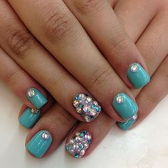 Pretty Nails Classy Rhinestones Jewels Most Popular Ideas Get Nails, Love Nails, How To Do Nails, Hair And Nails, Fabulous Nails, Gorgeous Nails, Pretty Nails, Beautiful Nail Designs, Cool Nail Designs