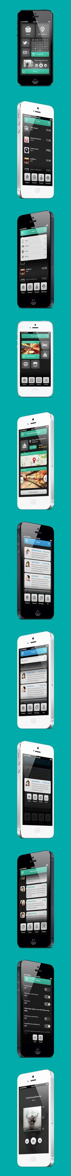"""Phone UI Retina - Natalie, via Behance *** """" The wonderful Design is what a user could ever want, How about a Sexy one, Strong and Cute, Smart and Gorgeous, as silky as a woman, We're introducing the most sexiest User Interface Design ever, meet Natalie and tell us what is sexy. """" by Ismail MESBAH"""