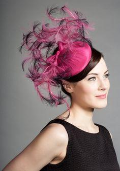 Rachel Trevor-Morgan :: Pillbox wit Curled Feathers