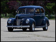 1940 Ford Deluxe Sedan Flathead V-8, Steel Body.