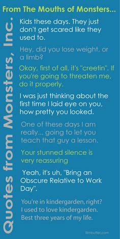 Movie Quotes from Disney Pixar - Monsters, Inc.