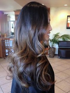 balayage brunette straight hair - Google Search