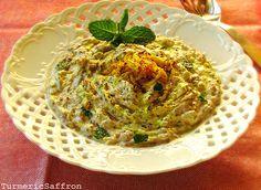 Turmeric & Saffron: Borani Bademjan - Persian Eggplant and Yogurt Dip