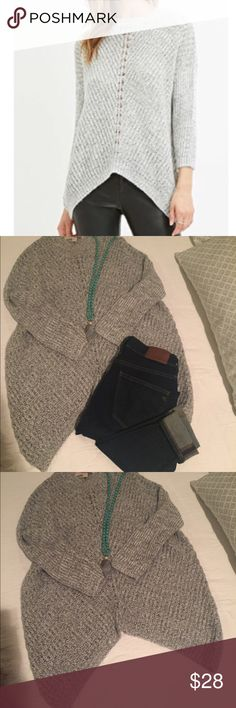Contemporary Marled Knit Sweater Light Gray Size S Worn once, mint condition 😻 Forever 21 Sweaters