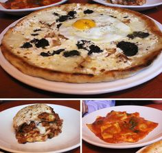 truffle, guanciale and egg pizza at Mario Batali's Otto in NYC